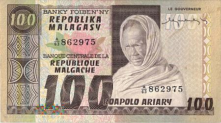 Madagaskar - 100 franków (1974)