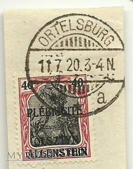 40 pfennig Ortelsburg 1920 - plebiscyt
