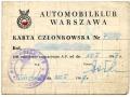 Legitymacja członka Automobilklubu