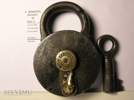"F. Sengpiel Patent Padlock #1 - Size ""C"""