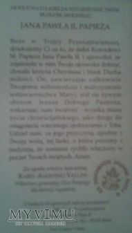 Ex indumentis Jana Pawła II. Dar Ks S . Odera