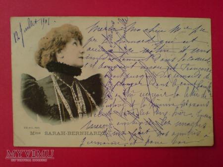 Sarah Bernhardt 1901 aktorka teatralna
