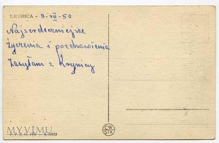 Krynica - Wodospad w Czarnym Potoku - 1950