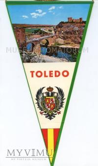 Duże zdjęcie Proporczyk souvenir - Hiszpania Toledo lata 80-te