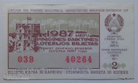 Litewski los na loterię 30 kopiejek