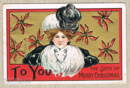 1911 rok. Wesołych Świąt Merry Christmas
