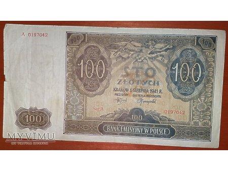 100 złotych z 1941 r.