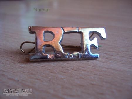 Indyjska odznaka na naramienniki: RF