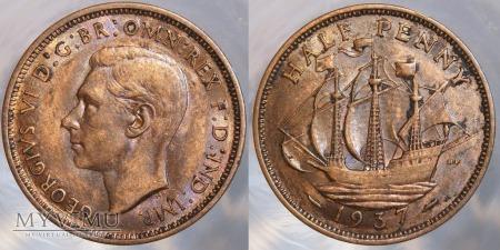 Wielka Brytania, half penny 1937