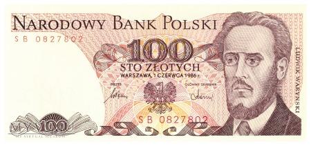 Polska - 100 złotych (1986)