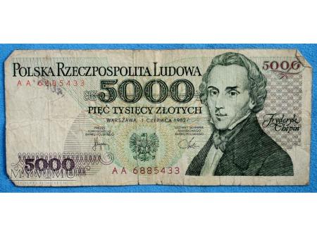 Duże zdjęcie 5000 złotych 1982