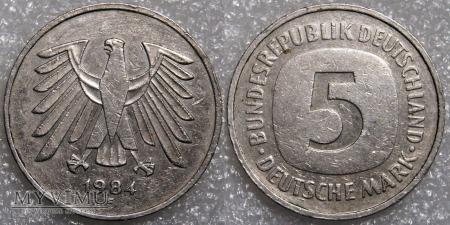 Niemcy, 1984, 5 DEUTSCHE MARK