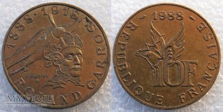 Francja, 10 Francs 1988