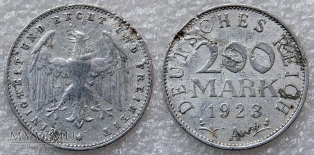 Niemcy, 1923, 200 Mark