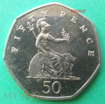 50 Fifty Pence Wielka Brytania