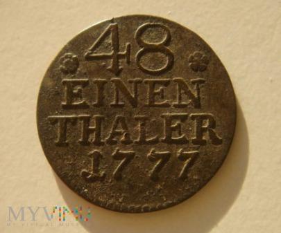 48 einen Thaler, 1777 A