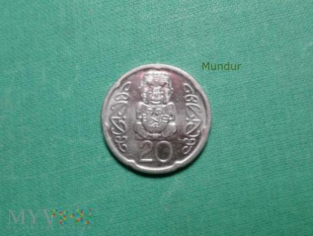 Moneta nowozelandzka: 20 centów NZ
