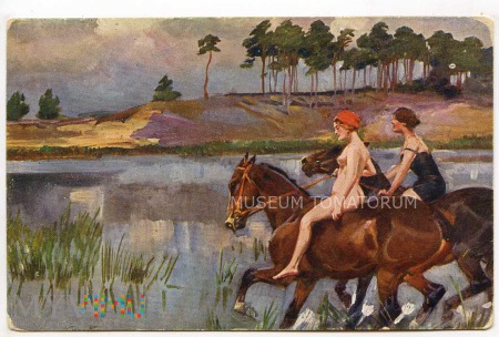 Kossak - Lekka kawaleria - Akt z koniem