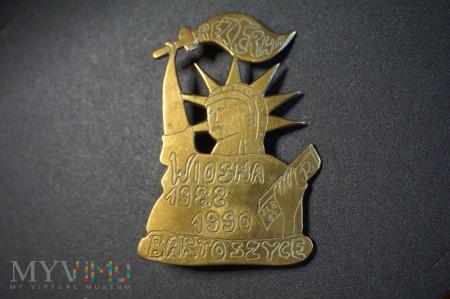 Odznaka Rezerwy Wiosna 88/90 - Bartoszyce