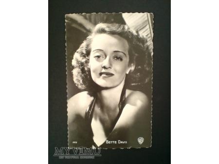 Duże zdjęcie Bette Davis - Warner Bros....Pocztówka zdjęcie