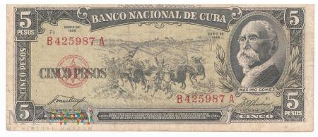 Kuba - 5 pesos (1958)