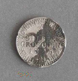 1 silber groschen srebrny grosz 1845