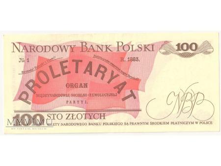 100 złotych 1988 rok seria TB