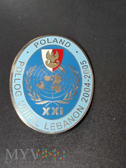Odznaka XXI Polskiej Zmiany PKW w Libanie