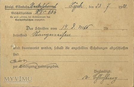 Lyck - Alt Ukta - 1920 r.