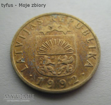 5 SANTIMI - Łotwa (1992)