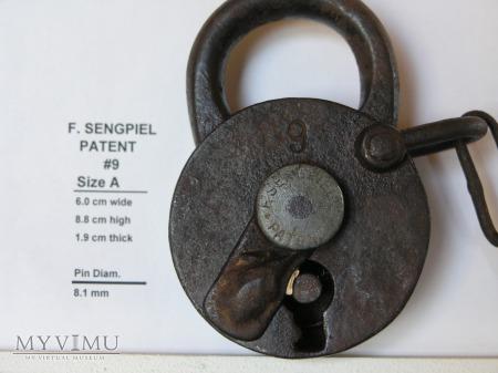 "F. Sengpiel Patent Padlock #9- Size ""A"""
