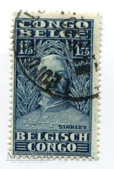 Kongo Belgijskie Henri Morton Stanley znaczek