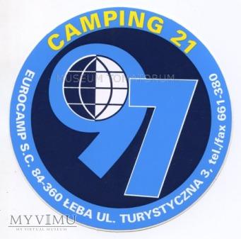 Nalepka hotelowa - Łeba - Camping 21