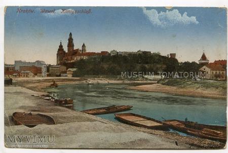 Kraków - Wawel od strony Wisły - 1915