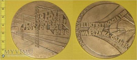 Medal kolejowy o elektryfikacji linii W-wa -Gdańsk