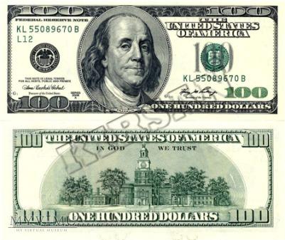 Banknot $ 100.00 2006 r