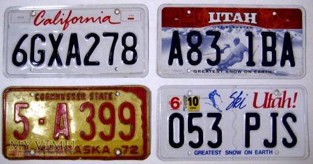 Duże zdjęcie Stanowe tablica rejestracyjne pojazdow