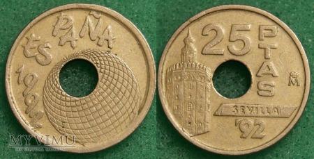 Duże zdjęcie Hiszpania, 25 PESETAS 1992