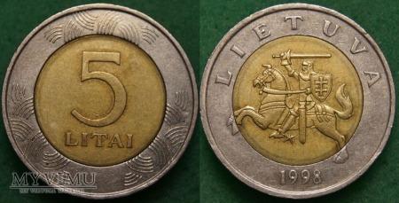 Litwa, 5 litai 1998