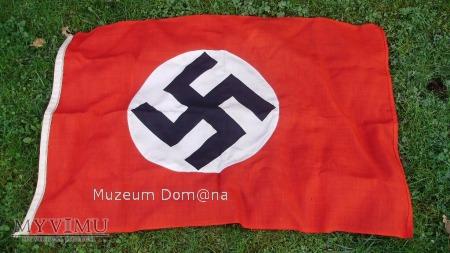 DWUSTRONNA FLAGA NSDAP - 120x78cm - ORYGINAŁ