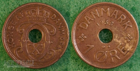 Dania, 1 Øre 1938