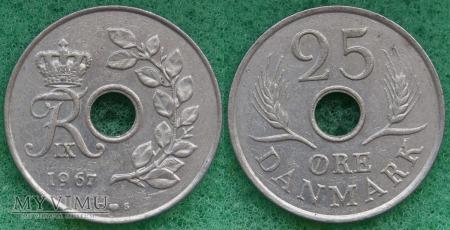 Dania, 25 Øre 1967