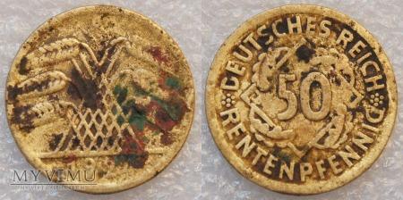 Niemcy, 1924, 50 Rentenpfennig