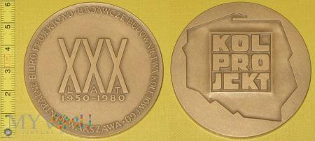 Medal kolejowy - firmowy Kolprojekt