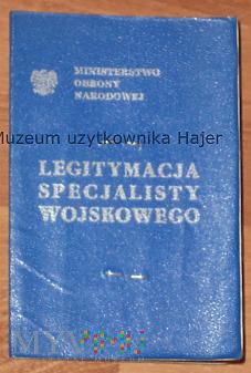 Legitymacja Specjalisty JW 2457 Bolesławiec