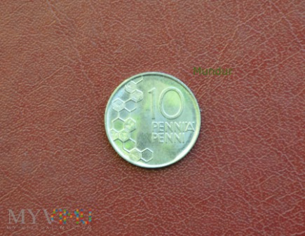 Moneta fińska: 10 penni