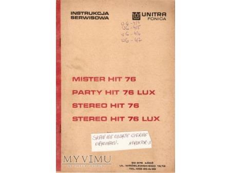 Instrukcja serwisowa gramofonu MISTER HIT