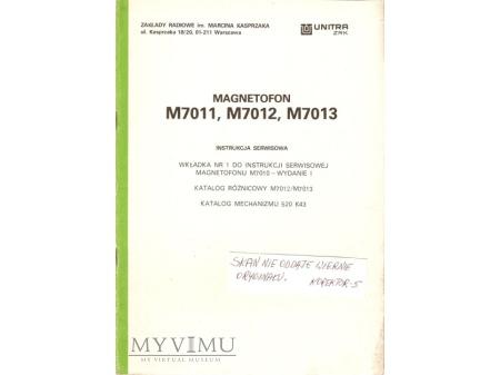 Instrukcja serwisowa magnetofonu M-7011, 12, 13.