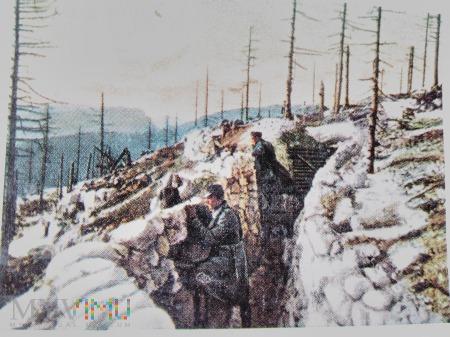 Duże zdjęcie austriackie okopy pod Isonzo (Włochy)