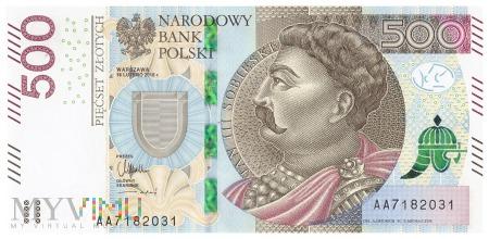 Polska - 500 złotych (2016)